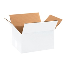 "11 1/4 x 8 3/4 x 6"" White Corrugated Boxes"