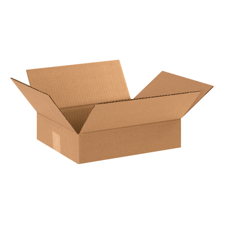 "12 x 10 x 3"" Flat Corrugated Boxes"