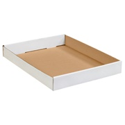 White Corrugated Trays