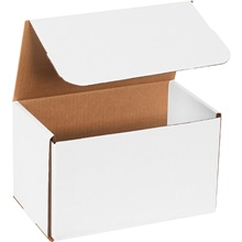 "10 x 6 x 6"" White Corrugated Mailers"