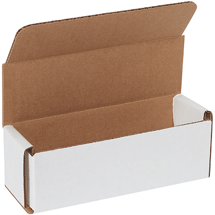 "6 x 2 x 2"" White Corrugated Mailers"